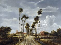 https://flic.kr/p/ahDjUD | Meindert Hobbema - The Avenue at Middelharnis [1689] | The painting shows the village and church of Middelharnis in the province of South Holland. The view is remarkably accurate and has hardly changed since the 17th century. Hobbema's design with the avenue of trees receding towards the centre of the picture is simple yet at the same time majestic. The trees are employed to mark the quick recession from foreground to background while the expanse of sky is…
