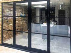 Aluminium Doors   Bespoke Design & 10 Year Guarantee Aluminium French Doors, Aluminium Windows And Doors, Timber Windows, Timber Door, Aluminum Windows Design, Building Design, Building A House, House Gate Design, Door Fittings