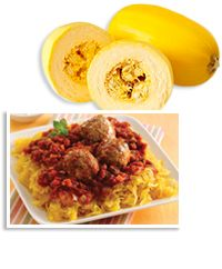 Spaghetti squash as pasta swap - Microwave whole squash for a few minutes to make it easier to cut. Halve lengthwise, and scoop out the seeds. Fill a large baking pan with 1/2 inch water, and bake squash halves (cut sides down) at 400 degrees until tender, 30 - 40 minutes. To cook it in the microwave, scoop out the seeds from a quarter of the squash, and microwave until soft in a covered wide bowl (cut side down) with 2 tbsp. water, about 8 minutes. Scrape out the strands, drain, and blot…