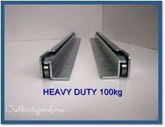 Drawer Runners/fridge Slides Heavy Duty for sale online Truck Bed Drawers, Truck Bed Storage, Van Storage, Heavy Duty Drawer Slides, Drawer Rails, Custom Trailers, Camper Trailers, Truck Bed Slide, Vw T3 Doka