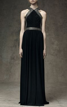 Grommeted Ruched Gown by ALEXANDER WANG for Preorder on Moda Operandi