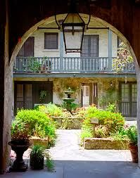 Beautiful archway in a New Orleans Courtyard