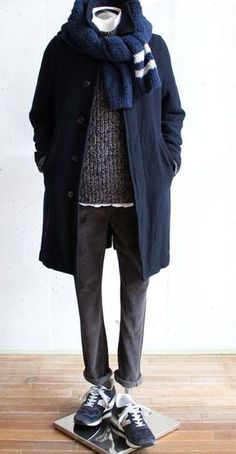 Suggestion of The Men's Winter Coat Style もっと見る Fashion Moda, Daily Fashion, Mens Fashion, Fashion Outfits, Man Winter Fashion, Winter Coat Outfits, Mens Winter Coat, Winter Coats, Winter Clothes