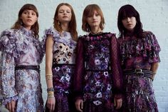 Nina S, Sveta M, Peyton Knight and Mae Mei Lapres backstage at the Rodarte Show (Photo by Lillie Eiger for Dazed). 70s Fashion, Fashion 2018, Runway Fashion, High Fashion, Fashion Looks, Fashion Outfits, Fashion Trends, Timeless Fashion, Couture Mode