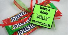 Christmas Idea # 20 - Last Minute Teacher/Neighbor Gift Ideas  Have a Holly JOLLY Christmas from Pioneer Party   I have seen Twizzlers given...