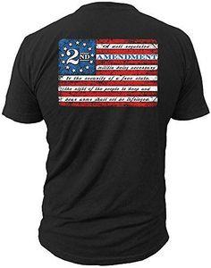 2nd Amendment Brand Vintage American Flag Mens T-Shirt USA Second 2A (2X-LARGE)