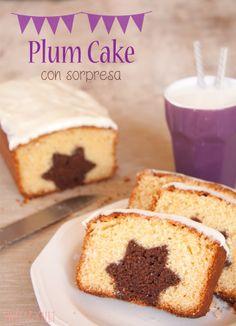 Receta de Plum Cake con estrella en su interior