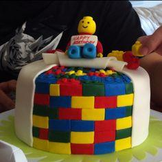 Lego cake - 4 layer red velvet with 3 layer cream cheese icing inside! Dessert Ideas, Cake Ideas, Lego Cake, Cream Cheese Icing, Cute Food, Desert Recipes, Baking Ideas, Allrecipes, Red Velvet