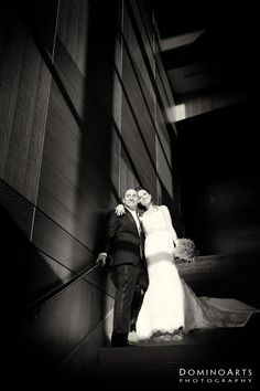 Beautiful #balck #wedding #portrait of the #bride and the #groom by #DominoArts #Photography (www.DominoArts.com)