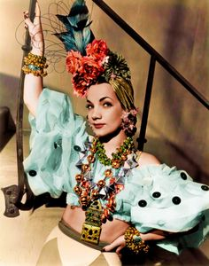 Carmen Miranda, (9 February 1909 – 5 August 1955) was a Portuguese-born Brazilian samba singer, dancer, Broadway actress, and film star who was popular in the 1940s and 1950s.