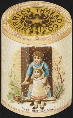 Merrick Thread Company- Vintage trade card
