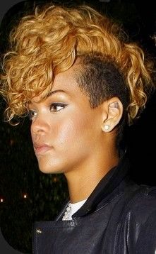 rihanna mohawk. someday I'm going to do this