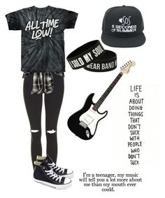"""If I Was in a Band"" by jigglypuff-irwin ❤ liked on Polyvore featuring Topshop and Converse"