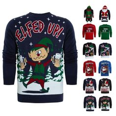 Beautiful Mens Slogan Ugly Xmas Novelty PUB HOODY FESTIVE Christmas Jumper Knitwear Top mens ugly christmas sweater from top store Mens Ugly Christmas Sweater, Christmas Jumpers, Funny Slogans, Hoody, Being Ugly, Knitwear, Festive, Xmas, Tricot