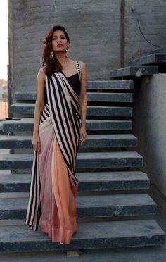 Saree draped interestingly                                                                                                                                                                                 More