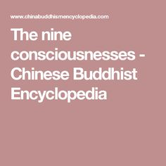 The nine consciousnesses - Chinese Buddhist Encyclopedia