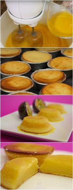 GENTE OLHA QUE RECEITA DELICIOSA, QUEIJADINHA DE MARACUJÁ…HUMMM VEJA AQUI>>>Junte o açúcar e bata. Enquanto bate, adicione aos poucos, a manteiga, a farinha e por fim, a polpa de maracujá. #receita#bolo#torta#doce#sobremesa#aniversario#pudim#mousse#pave#Cheesecake#chocolate#confeitaria