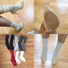 Diy Crafts - DIY Yeezy Sock Heels Frequently asked questions: Where can I get these socks: I purchased mine from Charlotte Russe, h&m, marshalls, an Cosplay Tutorial, Cosplay Diy, Tutu Tutorial, Charlotte Russe, Shoe Makeover, Shoe Refashion, Socks And Heels, High Socks, Diy Kleidung