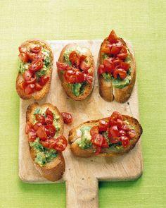 Tomato-Avocado Toasts