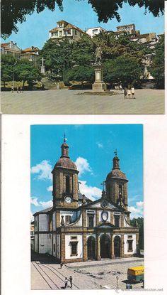 El Ferrol del Caudillo. Pza marques de Amboage y Catedral de San Julian. Sin circular