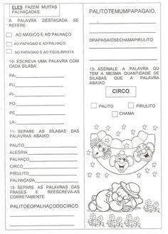 ALFABETIZAÇÃO SOLIDÁRIA: Atividade avaliativa Texto Palito e Pirulito 1º ano