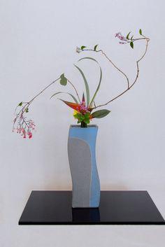 Ikebana ikenobo Japan flower arrangemnet rikka shimputai by Lusy Wahyudi. Indonesia