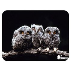 Owls Premium Quality Thick Rubber Mouse Mat Pad Soft Comfort Feel Finish