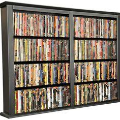Neil Enterprises Holds 2 discs Inc Classic Black Leather Double CD//DVD Holder