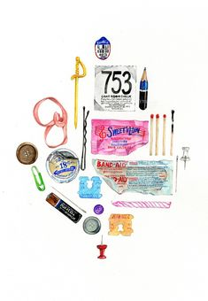 Janice Wu    every day objects drawings