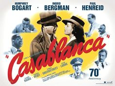 Casablanca Returns to Big Screens for Anniversary Casablanca Movie, Casablanca 1942, Classic Movie Posters, Classic Films, Great Films, Good Movies, Latest Movie Trailers, 70th Anniversary, Movie Stars