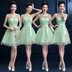 Cheap mint green bridesmaid dresses, Buy Quality cheap bridesmaid dresses directly from China bridesmaid dresses Suppliers: Tulle Sheer Shoulder Pleat Mint Green Bridesmaid Dresses Mint Wedding Party Dresses Cheap Bridesmaid Dresses Under 50 Girls Short Dresses, Baby Girl Dresses, Trendy Dresses, Flower Girl Dresses, Bridesmaid Dresses Under 50, Mint Green Bridesmaid Dresses, Bridesmaids, Vestidos Color Menta, Frocks And Gowns