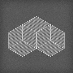 ambiguous cubes in isometric perspective.
