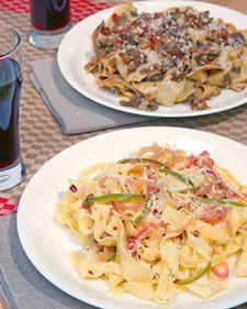 Mario Batali's Fettuccine with Lemon, Hot Peppers, and Pecorino Romano - Martha Stewart Recipes