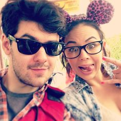 Brendan Robinson (Lucas) and Janel Parrish (Mona) on the set of Pretty Little Liars. #PLL