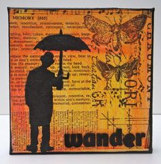 Mixed Media Canvas Art  Wander by MarjieKemperDesigns on Etsy, $35.00