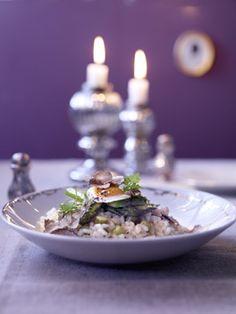 Vegetarisch: Spargel-Trüffel-Risotto - Hauptgänge für das Weihnachtsmenü - [LIVING AT HOME]