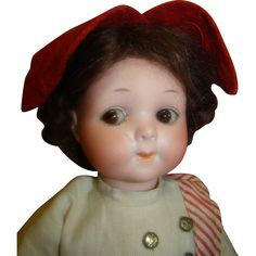 """11.5"""" German Googly #200/248 by Armand Marseilles; Original Clothes, from dollstx on Ruby Lane"""