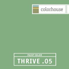 Colorhouse THRIVE .05:  You can almost smell the juniper. Reminiscent of 1940s chalkboard green. Really sings in a kitchen.