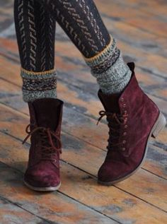 LIKE the STYLE of these Boots. Simple, Lace Up, Low Heel, But in MY COLORS