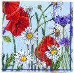 Decoupage Paper Napkins   Wild Flower Garden Daisies   Floral Napkins   Garden Napkins   Summer Napkins   Paper Napkins for Decoupage