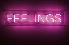 Neon lights. Pink. Feelings.