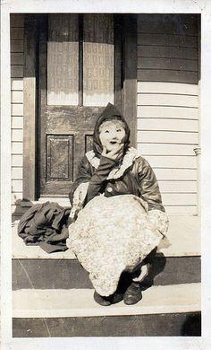 Creepy vintage Halloween costume.