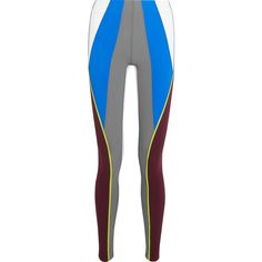 No Ka'Oi Kimi color-block stretch-jersey leggings ($160) ❤ liked on Polyvore featuring grey and stretch jersey