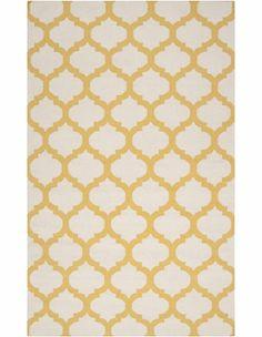 gorgeous golden yellow trellis rug!