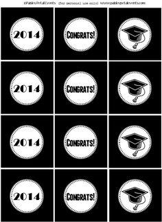 2014 Graduation printable circles