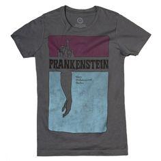 Frankenstein womens literary t-shirt   Frankenstein
