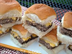 Mommy's Kitchen - Old Fashioned & Country Style Cooking: DIY White Castle Sliders (My Favorite Burger as a Kid)