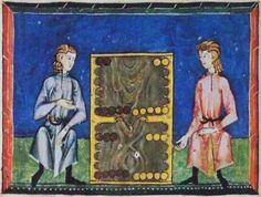 The game of todas tablas from the Libro de los juegos.  1283 A.D. https://sites.google.com/site/connecticutbackgammon/