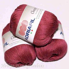 Cheope Amarant von Adriafil - Heikes Handgewebtes edel feine 100 % ägyptische Baumwolle für höchste Ansprüche. noble fine 100% Egyptian cotton for high performance. 50g = 135 m LL