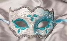 Venetian Masquerade Ball Masks named Iris Gold. Decorated in blue and gold glitter and acrylic paints Sweet 16 Masquerade, Masquerade Ball Party, Venetian Masquerade Masks, Masquerade Outfit, Masquerade Decorations, Mascarade Mask, Theme Carnaval, Iris, Carnival Masks